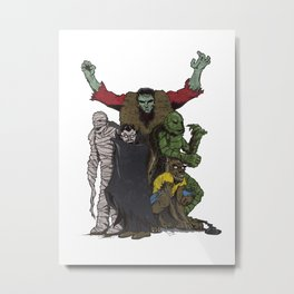 The Demonsterables (no text) Metal Print