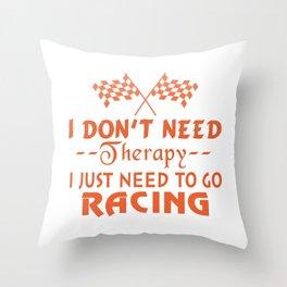 GO RACING Throw Pillow
