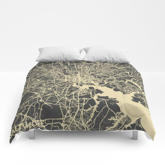 Baltimore map Comforters