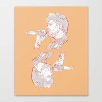 zayn Canvas Prints featuring Zayn by heyitsmme