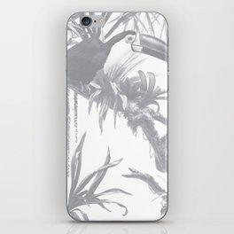 Toucans and Bromeliads - Sharkskin Grey iPhone Skin