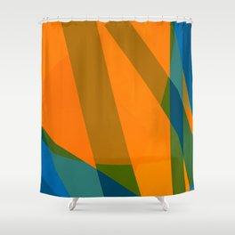 Orangeblue Shower Curtain