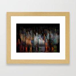 drowning world Framed Art Print