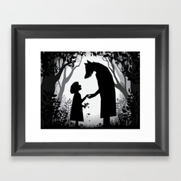 Meeting The Wolf Framed Art Print