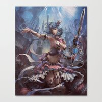 atlas Canvas Prints featuring Atlas by YuChengHong