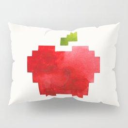 Red Macintosh Apple Watercolor Painting Pixel Digital Art Geometric Fruit Vector Pillow Sham