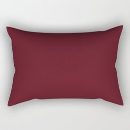 Asiatic Lily Flower Maroon Red Solid Color Rectangular Pillow
