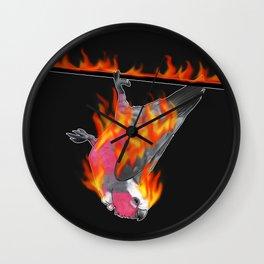 Flaming Galah Wall Clock