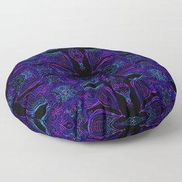 Vibrant Doodles Mania Nightshade Floor Pillow