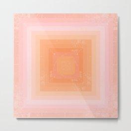 Peaches N' Cream Metal Print