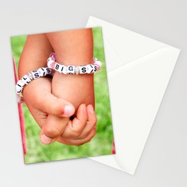 Big Sis & Lil Sis Holding Hands Stationery Cards