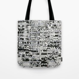 Confused Images Behind the Interface (P/D3 Glitch Collage Studies) Tote Bag