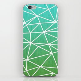 Abstract geometric | green & turquoise iPhone Skin