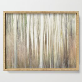 Abstract Aspens Serving Tray