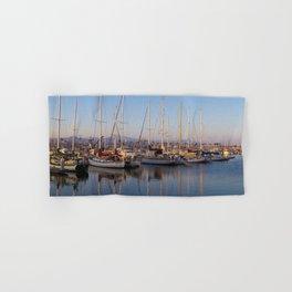 Sail Boats in the Harbor Hand & Bath Towel