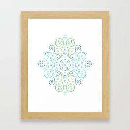 The Joy of Spring Mandala Framed Art Print