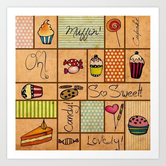 Sweet Things! Art Print