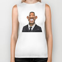 celebrity Biker Tanks featuring Celebrity Sunday ~ Will Smith by rob art | illustration