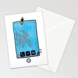 Phone in the Pool Stationery Cards