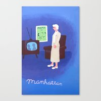 manhattan Canvas Prints featuring Manhattan by charker