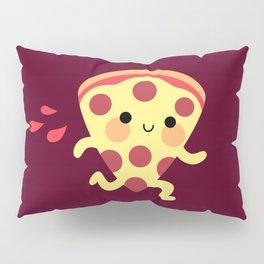 Cute running pizza slice Pillow Sham