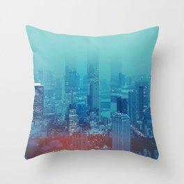 Nightcity Throw Pillow