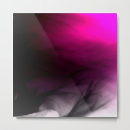 Pink Flames Pink to Black Gradient Metal Print