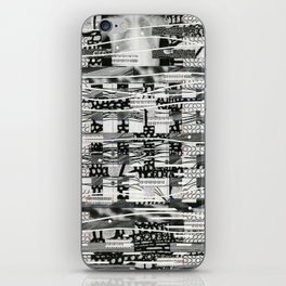 The System Affects The Information That Flows Through It (P/D3 Glitch Collage Studies) iPhone Skin