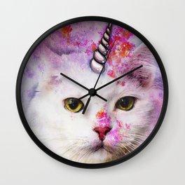 Unicorn Cat Wall Clock