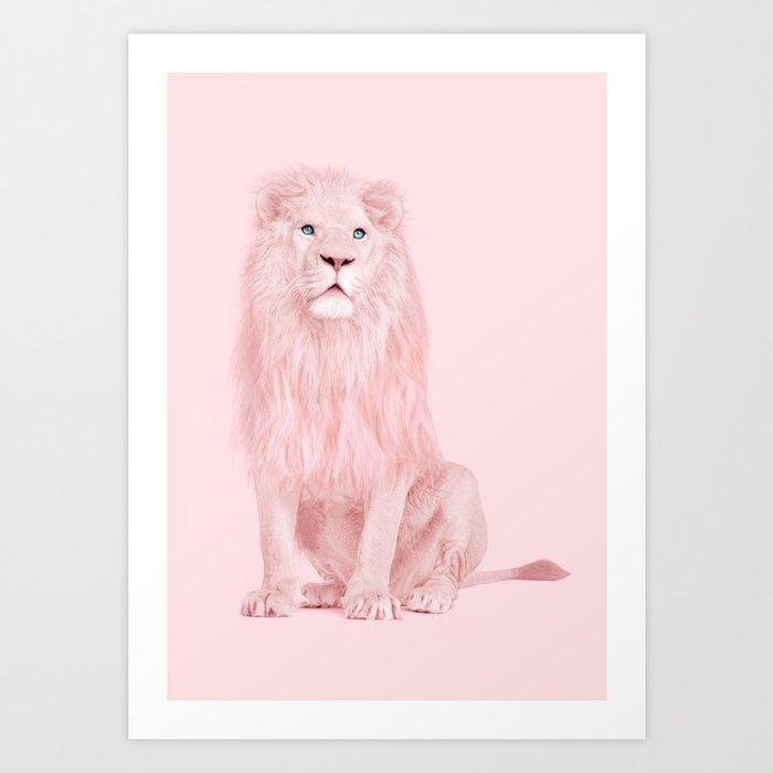 PINK LION Kunstdrucke