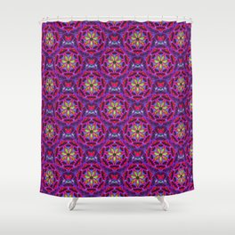 Hot Flashing Red Fabric Pattern Shower Curtain