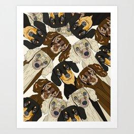 Doxie Nation Art Print