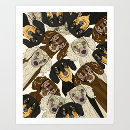 Doxie Nation Art Print
