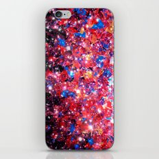 WRAPPED IN STARLIGHT Bold Colorful Abstract Acrylic Painting Galaxy Stars Pink Red Purple Ombre Sky iPhone & iPod Skin