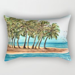 Private Island Painting Rectangular Pillow