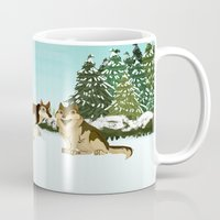 wolves Mugs featuring Wolves by Kileigh Gallagher