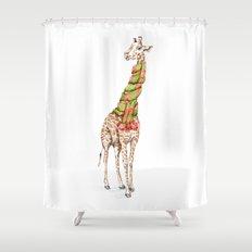 Giraffe in a Scarf Shower Curtain