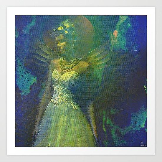 Barbara, the angel of the innocence Art Print