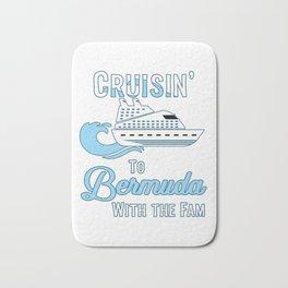 Bermuda Family Cruise Matching Cruisin with the Fam design Bath Mat