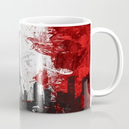 Eiffel Tower Painting Abstract Coffee Mug
