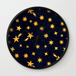 Little Stars in the Night Sky Wall Clock