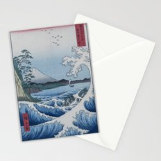 Sea Off Satta - Japanese Woodblock Print by Hiroshige Stationery Cards