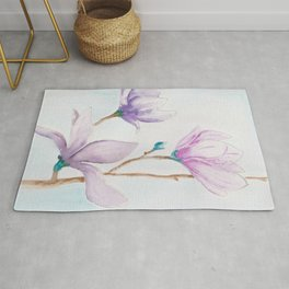 Beautiful lila magnolia Rug