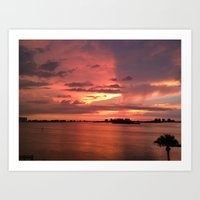 Sunset Over Clearwater Bay Art Print