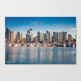 City Marina Canvas Print