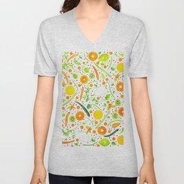Fruits and vegetables pattern (13) Unisex V-Neck