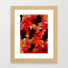 The Color Of Leaves Abstract Framed Art Print