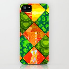 Retro Irish Floral iPhone Case