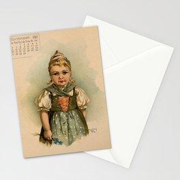 German Girl Maud Humphrey 1891 Stationery Cards