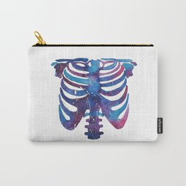 Watercolor galaxy skeleton Carry-All Pouch